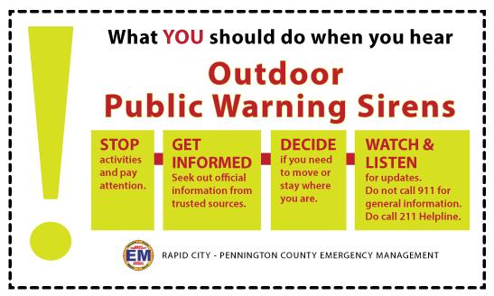 Outdoor Warning Sirens - Pennington County, South Dakota